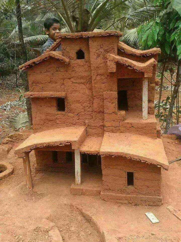 Check out the clay house built by an Indian kid