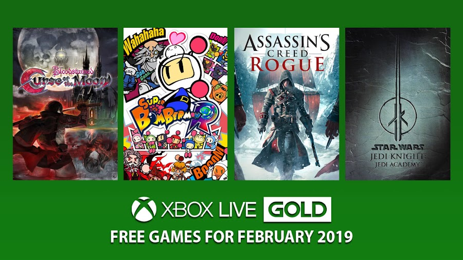 xbox live gold free games february 2019