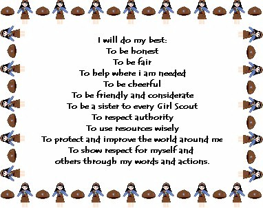 Our Girl Scout Troop Girl Scout Law Promise Motto Slogan