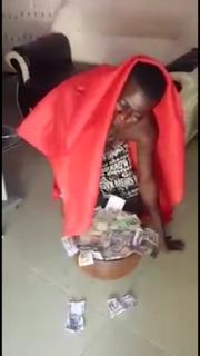 Video : Strange!!!! Man vomits money