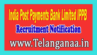 India Post Payments Bank Limited IPPB Recruitment Notification 2016