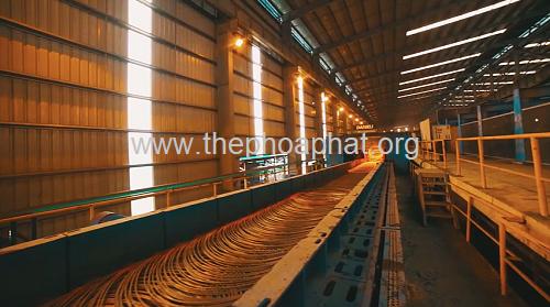 Dây chuyền sản xuất thép cuộn Hòa Phát