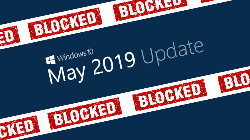 Windows 10 May 2019 Update won't install if an external USB device or SD memory card is attached