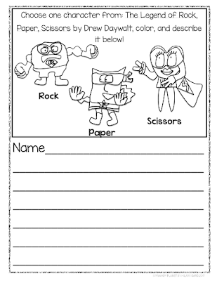 Book Talk Tuesday: Character Traits with The Legend of Rock, Paper, Scissors!