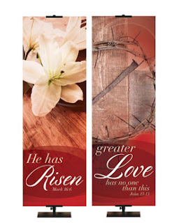 Passion of Christ Easter Banners For Church