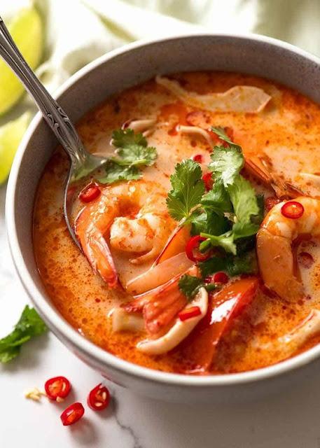 Resep Masakan Sup Udang Pedas (Tom Yum Khung) Khas Thailand