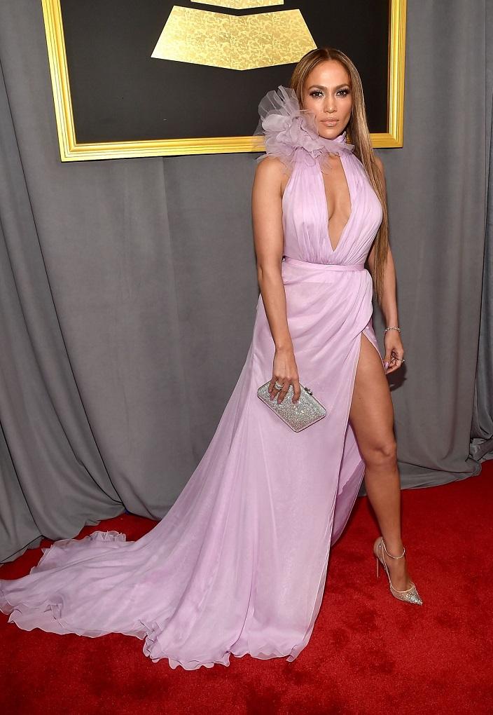 Jennifer Lopez on Red Carpet – GRAMMY Awards in Los Angeles