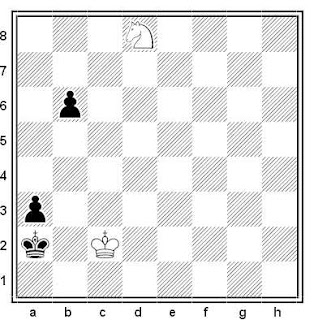 Final de ajedrez: Caballo contra dos peones ligados, red de mate