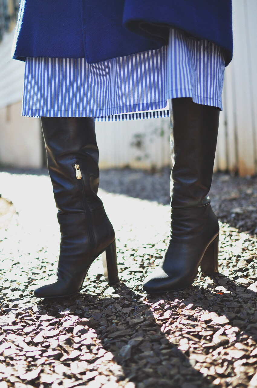 Block heel street style