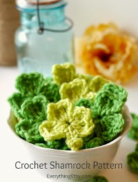 Mini shamrock motif pattern free for crochet