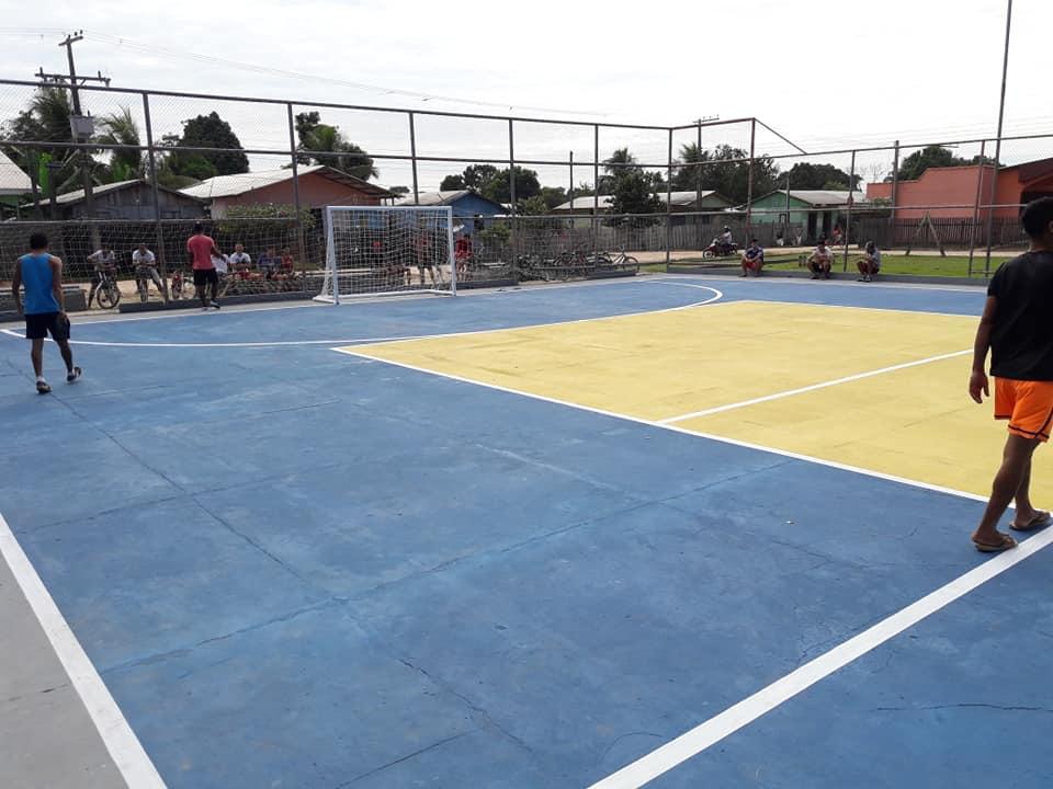 fafc2ca692 Prefeitura realiza reforma da quadra esportiva do bairro Bela Vista ...