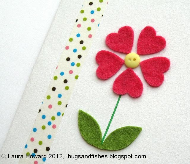 Bugs And Fishes By Lupin: DIY Felt Flower Card