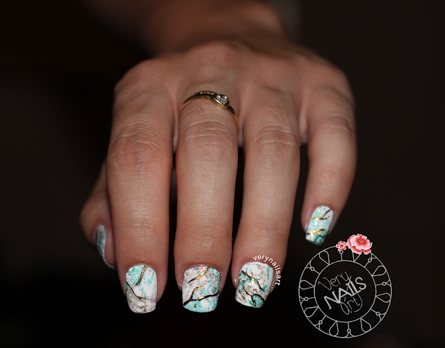 MARBLE NAILS PASO A PASO | DECORADA CON FOIL