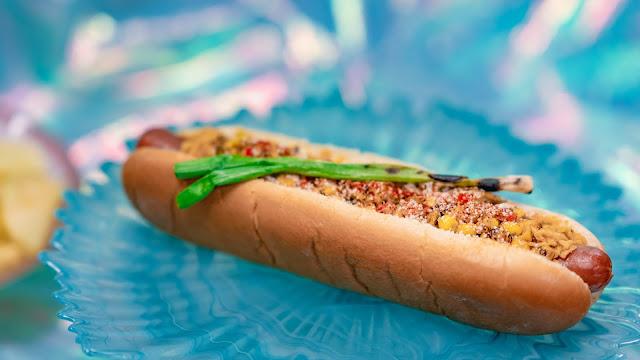Magic Happens Parade Food, snacks, Refreshment Corner, Esquite Hot Dog