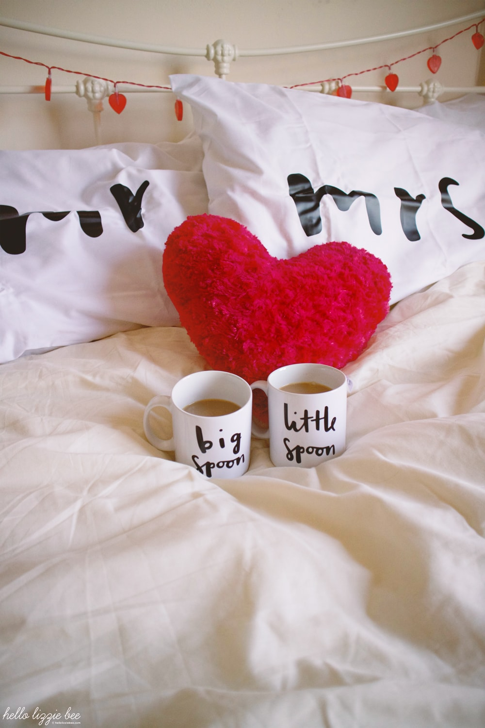 mr and mrs pillow, big spoon little spoon mugs