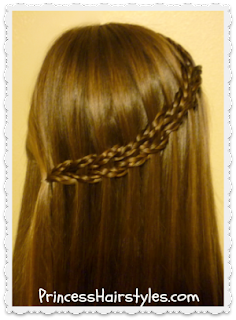 video tutorial, scissor waterfall using micro braids