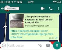 Kenapa Share Postingan Blog Pada WhatsApp Tidak Gambarnya ?
