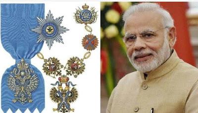 रूस के सर्वोच्च नागरिक सम्मान से नवाजे जाएंगे पीएम मोदी   Order of St. Andrew the Apostle kya hai