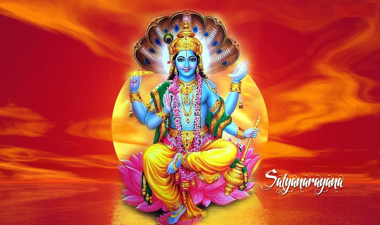 Lord Satyanarayan (Satyanarayana) Swamy HD Incredible
