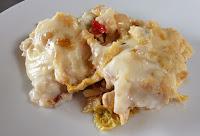 Budin de repollo con pollo