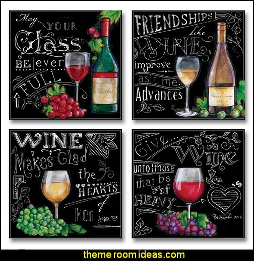 Chalkboard-Style Kitchen Wine Signs  Tuscan theme decor - grape decor - wine barrel decor - Tuscan theme decorating ideas - rustic decorating ideas old world furniture - Tuscan decor - Tuscan themed bedroom decor - Tuscany vineyard style decorating - rustic decor - Italian cafe - Tuscan themed kitchen accessories - Tuscan wall murals - Tuscan bedroom ideas - Venice Italy decorating ideas - Tuscany kitchen decor - wine kitchen decor - Tuscan style decorating - Italian-inspired Living - Tuscan vineyard style decorating
