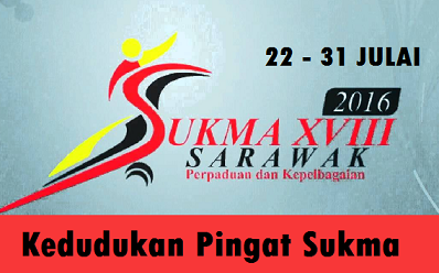pungutan Pingat Sukma 2016 Sarawak Terkini
