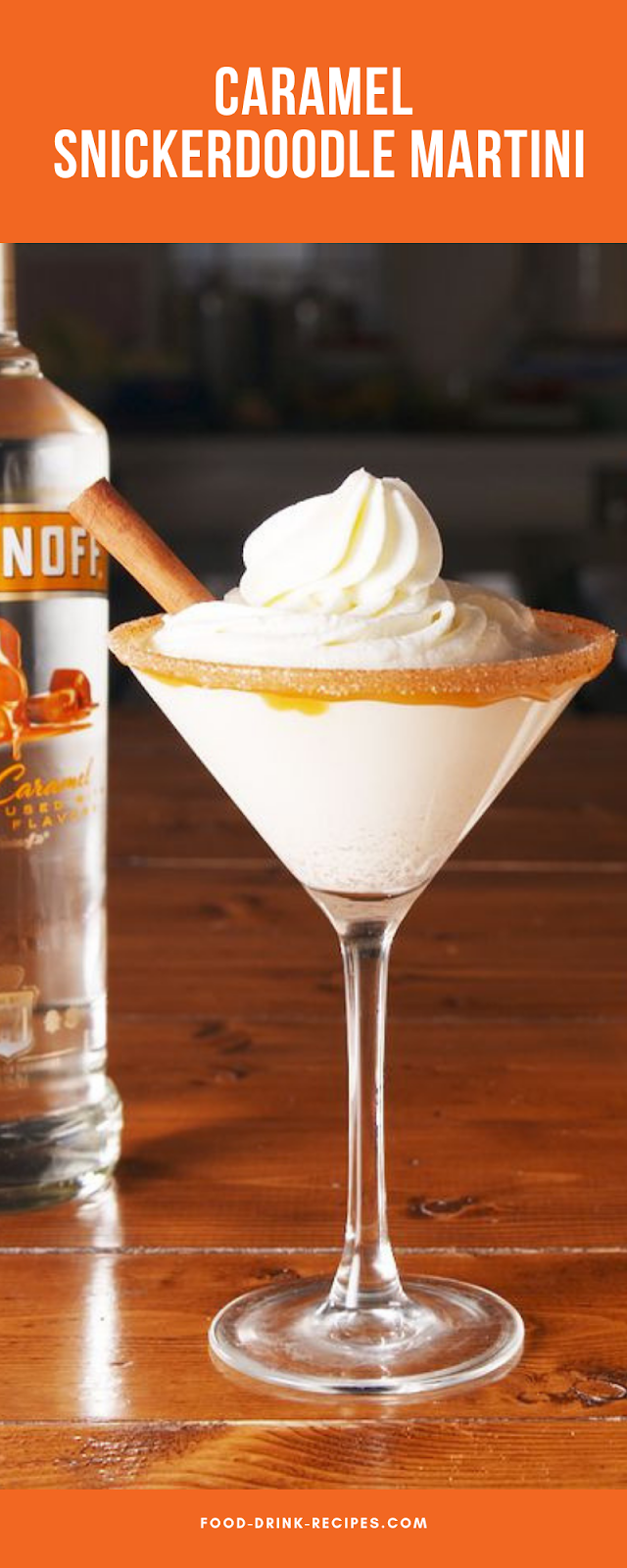 Caramel Snickerdoodle Martini - food-drink-recipes.com