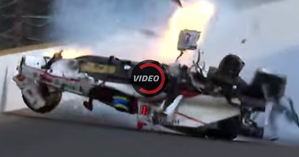 sebastien bourdais crashes big during indy 500 qualifying. Black Bedroom Furniture Sets. Home Design Ideas
