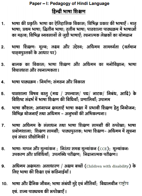 TSPSC Gurukulam Teacher Hindi Language Syllabus