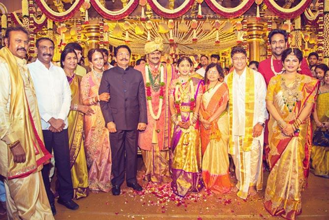 T Subbarami Reddy, Chandrababu Naidu, Manoj Manchu and Pranathi Reddy Wedding Pics