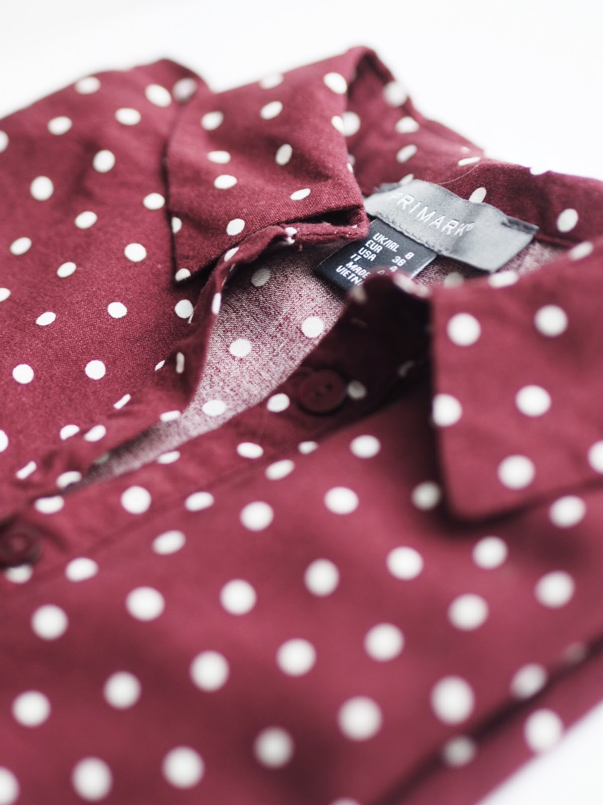 Fashion | The Autumn Winter 17 Trend Report Primark Red Burgundy Polka Dot Shirt