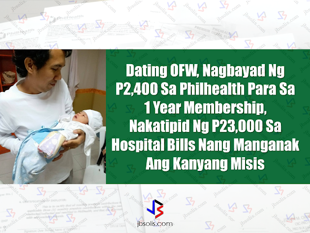 It is true that health insurance is very important yet neglected by most families. OFWs have health insurance abroad but it doesn't cover our families back home. If you are an OFW who decided to come back home for good, you may need to update your Philhealth membership. As OFWs, we have mandatory Philhealth membership but once we return to the country after our contract or we decided to stay for good, you will be an individually paying member. All you need to do is to go to any Philhealth office near you to update your status and pay for your membership.   Read: How much can you benefit from Philhealth?  You can pay either quarterly or you can pay P2,400 for payment for 1 year membership. Being a Philhealth member, our whole family will enjoy health benefits. After Philhealth is the only health insurance with premium payment made affordable for common Filipinos yet you can enjoy full benefits should anything happened to any member of your family.  Sponsored Links A former OFW who was woking in Saudi Arabia decided to return home for good has made himself a favor by updating his status with Philhealth.  He paid P2,400 premium for 1 year health insurance coverage. Months later, her wife delivered a beautiful baby girl at a private hospital. A big chunk of P23,450 has been diminished from their hospital bill. The Philhealth he never used while he was abroad has been a great help now that he and his family has stayed in the country.     Philhealth benefits can be accessed readily as some accredited hospitals has Philhealth offices within the premises.   If there is no available Philhealth office or desk at the hospital where you or any member of your family is presently admitted, you can avail it by visiting the nearest Philhealth offices in your vicinity. Just make sure to secure a members data record when claiming your benefits for faster transactions.  Read: Are you a Philhealth member? You need to know this.  Every OFWs must invest in their family's health. By having a medical insurance such as Philhealth, it could enable you to worry less in health-related situations. Health is wealth and we need to assure that our family is ready in times of sickness. Advertisement  READ MORE:      ©2017 THOUGHTSKOTO www.jbsolis.com SEARCH JBSOLIS, TYPE KEYWORDS and TITLE OF ARTICLE at the box below