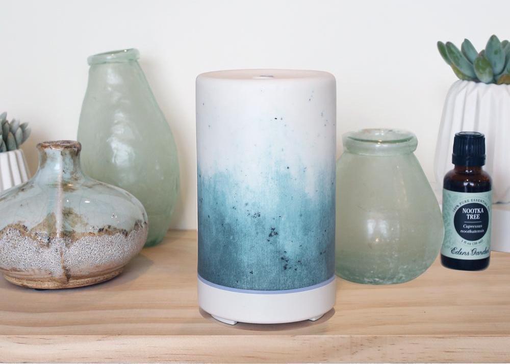 Eden's Garden Ceramic Ultrasonic Diffuser - Blue Ombre