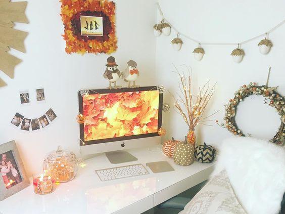 Ideias para decorar o quarto para o Outono