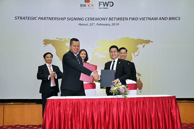 Strategic Partnership Signing Ceremony between FWD Vietnam and BRICS 22-2-2019