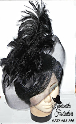 Buy black party fascinator hats Nairobi Kenya