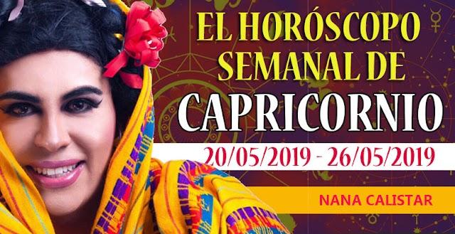 Horóscopo semanal de Capricornio,  del 20 al 26 de Mayo del 2019