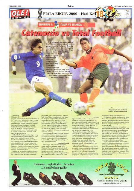 CATENACCIO VS TOTAL FOOTBALL ON EURO 2000 SEMIFINAL