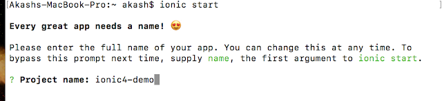install ionic4