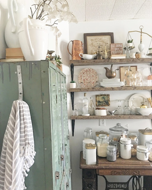 Use lockers for a pantry in your kitchen