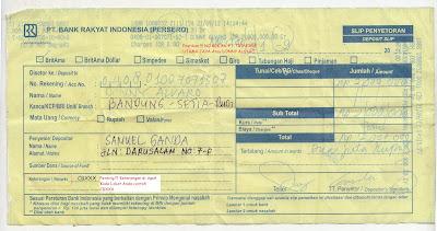 Ppob Mandiri Syariah Contoh Slip Bri Penyetoran Transfer Deposit Ppob