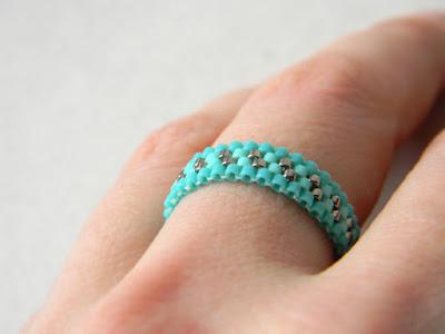 кольца авторской работы бирюзовое кольцо из бисера ру россия