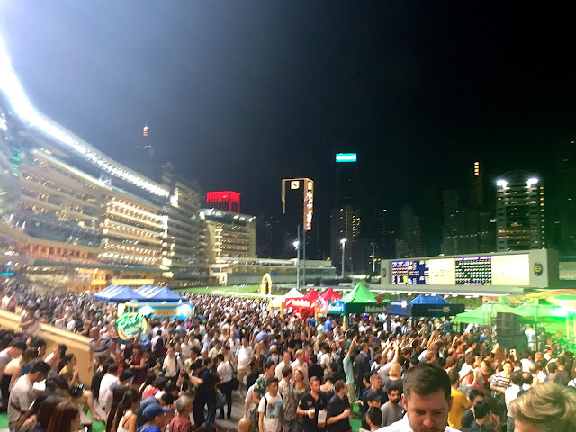 Wednesday night horse racing at Happy Valley, Hong Kong