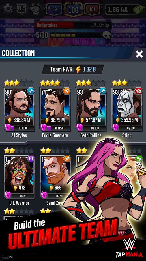 WWE Tap Mania MOD APK Terbaru