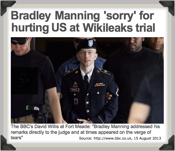 Bradley Manning 'sorry' for hurting US at Wikileaks trial