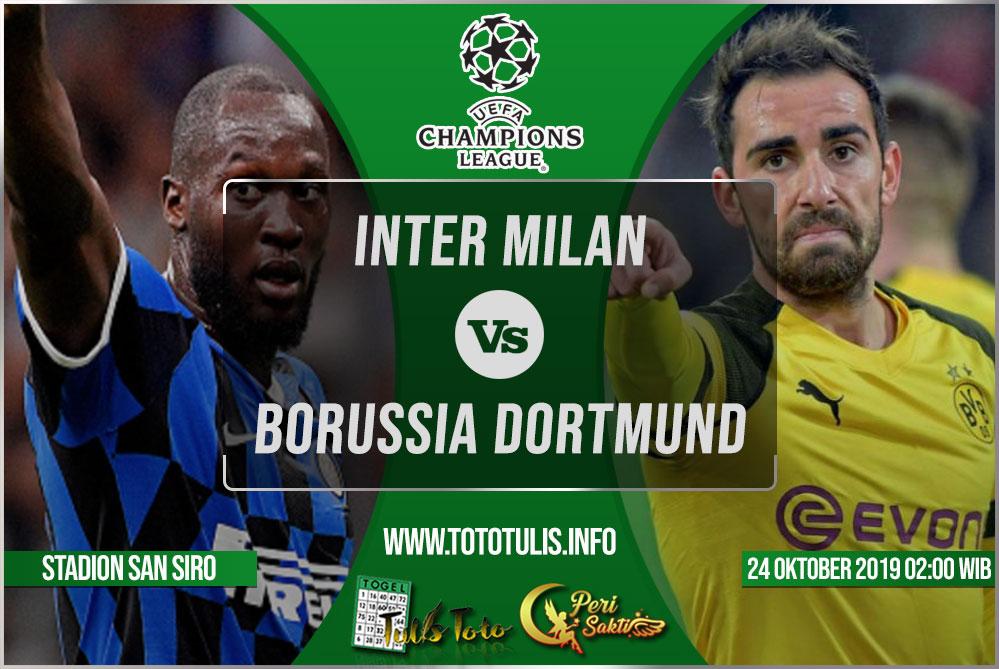 Prediksi Inter Milan vs Borussia Dortmund 24 Oktober 2019
