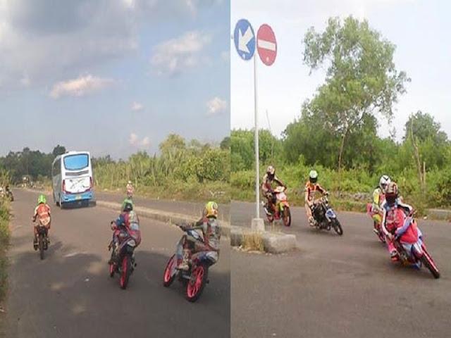Gambar Jalan Raya Bukan Sircuit Tempat Balapan