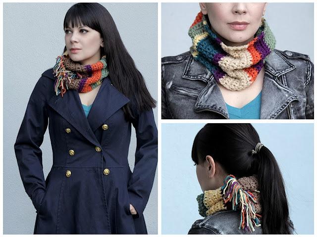 Bufanda Infinita Crochet de Colores