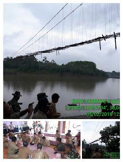 Pemkab Muara Enim Tinjau Jembatan Gantung Desa Beruge