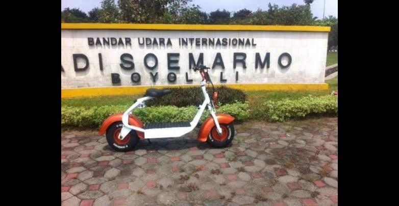 scooter listrik Alm. Eddy Santoso